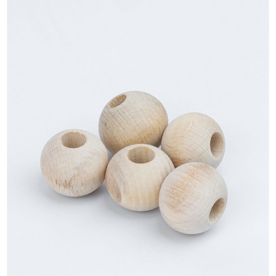 Wooden Bead 22mm 5 pcs Pack