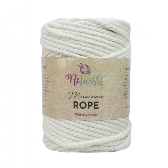 5mm 500g Natural Color Macrame Rope
