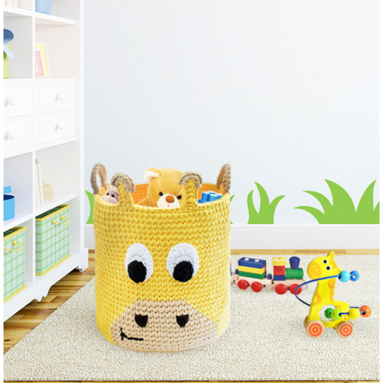DIY Giraffe Toy Basket Kit