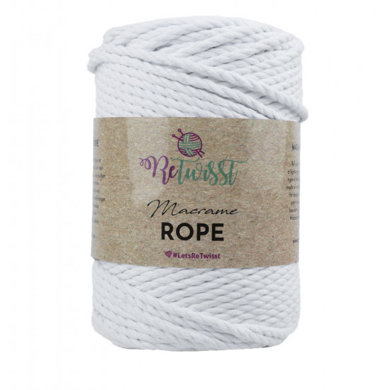 3mm 500g White Macrame Rope