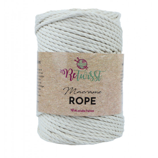 4mm 500g Natural Color Macrame Rope